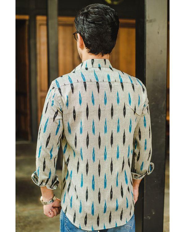 Grey blue ikat play shirt 2