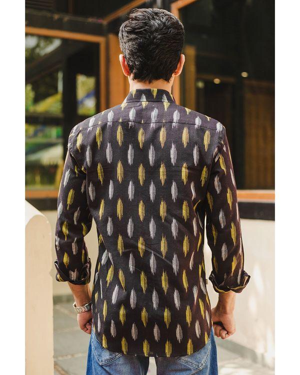 Black ikat weave shirt 3