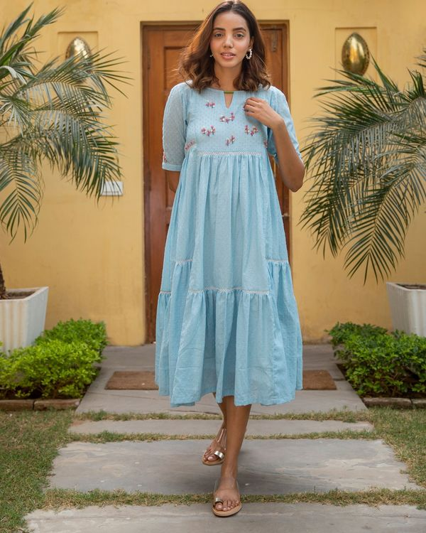 Blue poppy dress 2