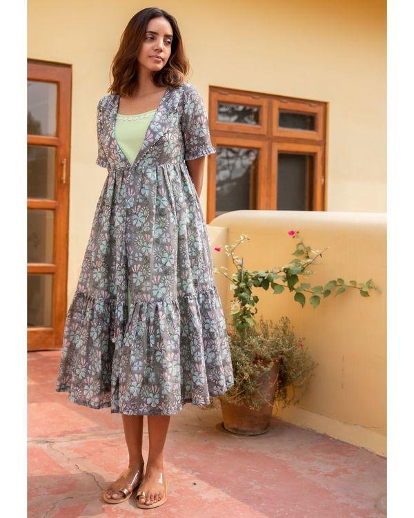 Botanic jacket dress with a slip - set of two 2