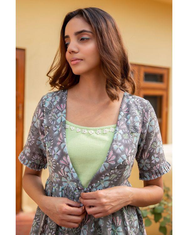 Botanic jacket dress with a slip - set of two 1