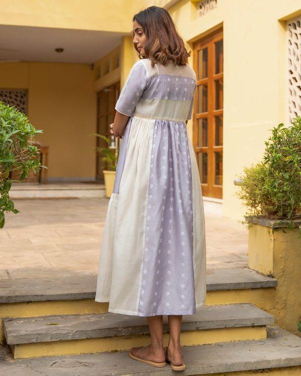 Lilac mogra tiered dress 3