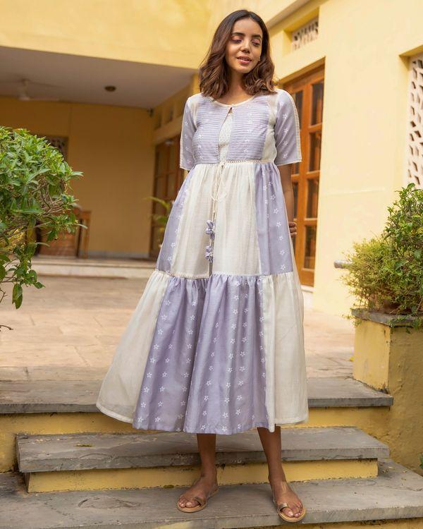 Lilac mogra tiered dress 2