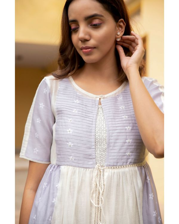 Lilac mogra tiered dress 1