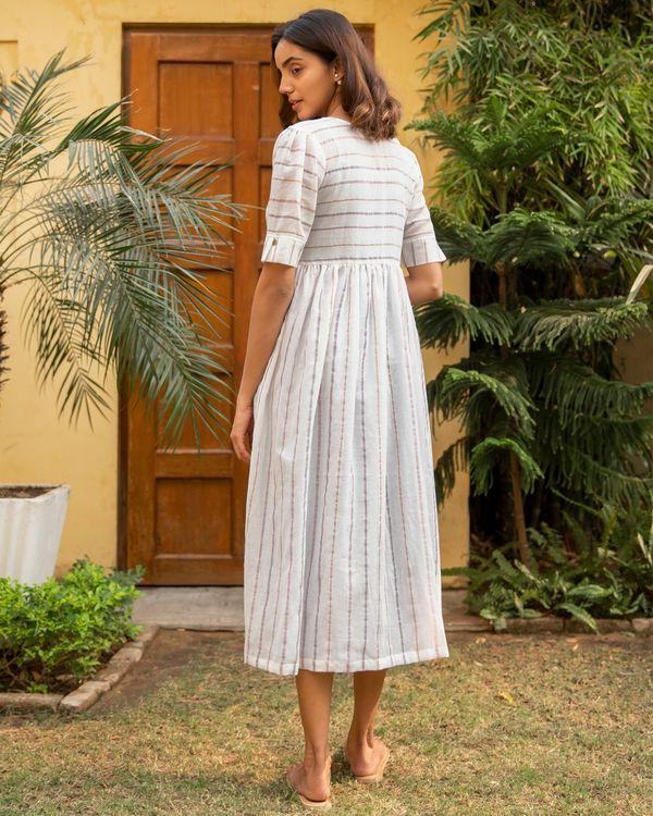 Lilac stripe jacket dress - set of two 3