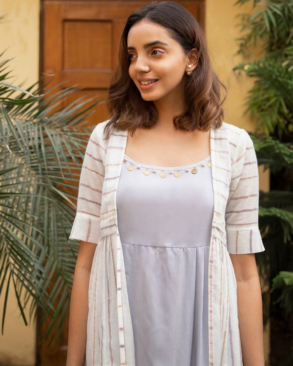 Lilac stripe jacket dress - set of two 1