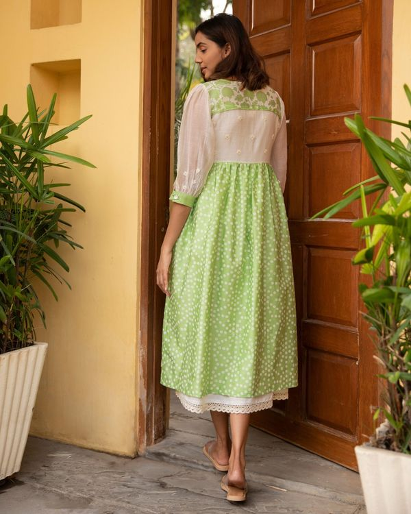 Lime kali dress with a slip - set of two 4