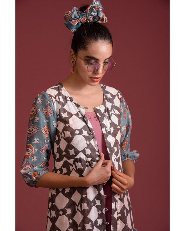 Printed jacket with inner - set of two 1