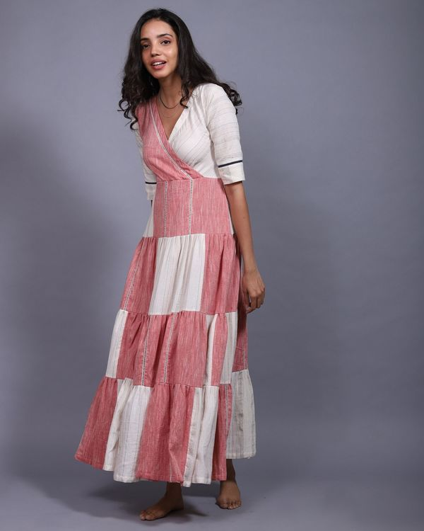 Patch tier dress with a slip - set of two 1