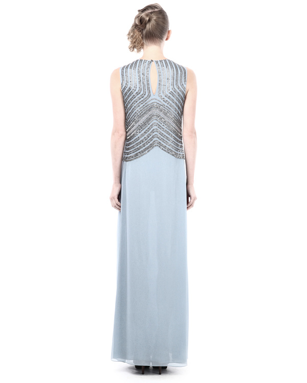 Straight fit evening dress with embroidery details 2