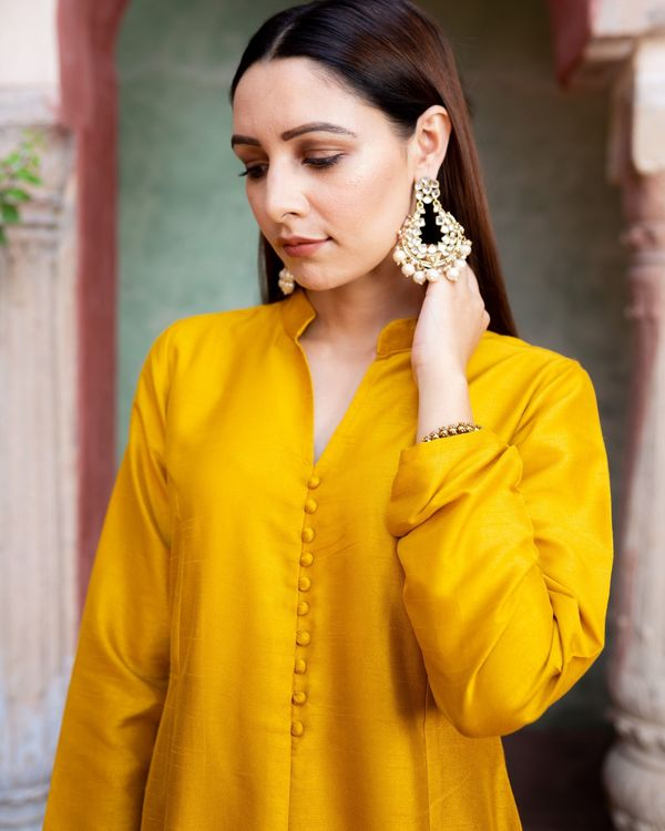 Mustard silk set - set of Two 1