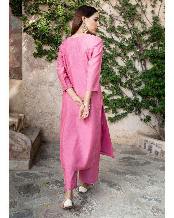 Blush pink silk suit - set of two 3
