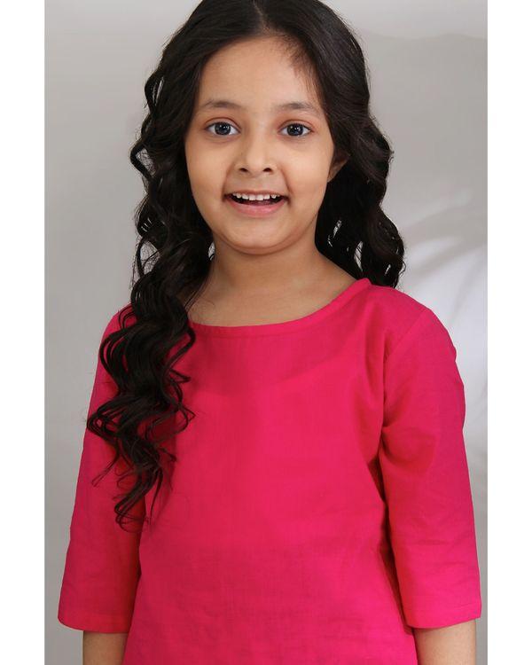 Pink mughal sharara set - set of three 1