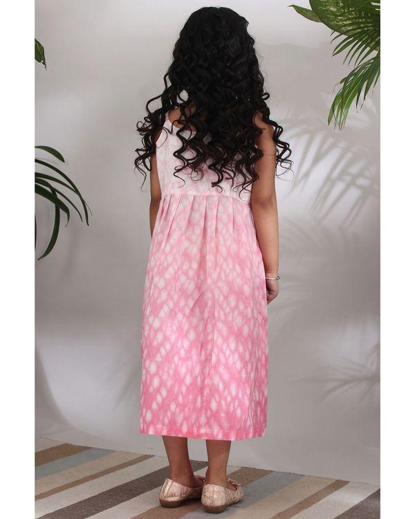 Pink shibori dress 2