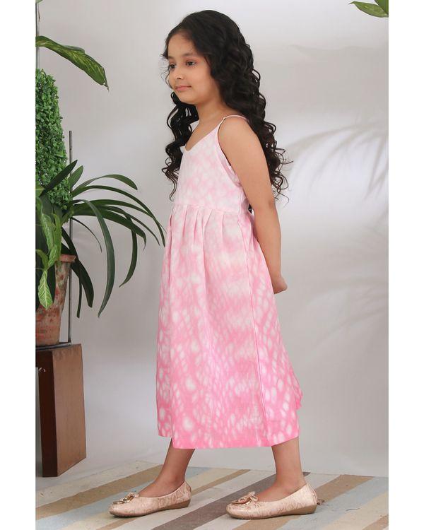 Pink shibori dress 1