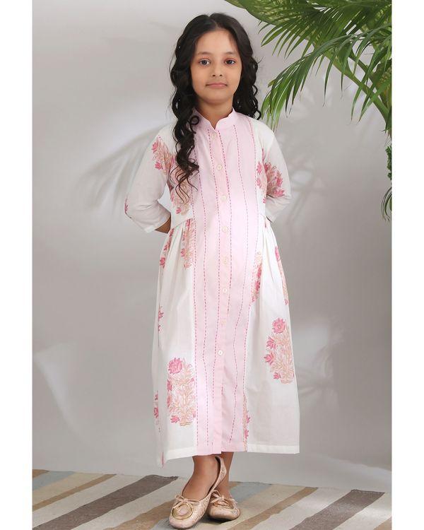 Panelled kantha dress 1