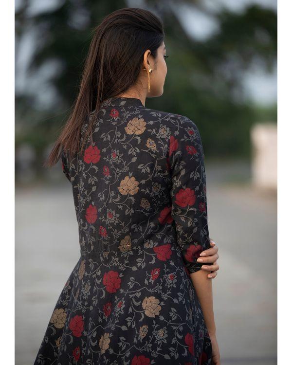 Black rose zipper dress 3