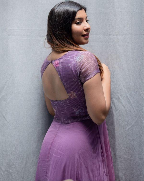 Lavender kota georgette dress 3