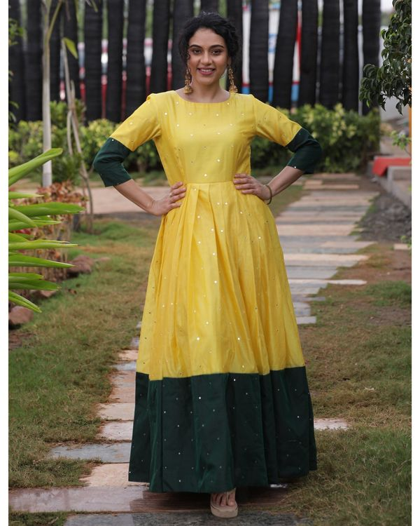 Yellow and green mirror dress 3