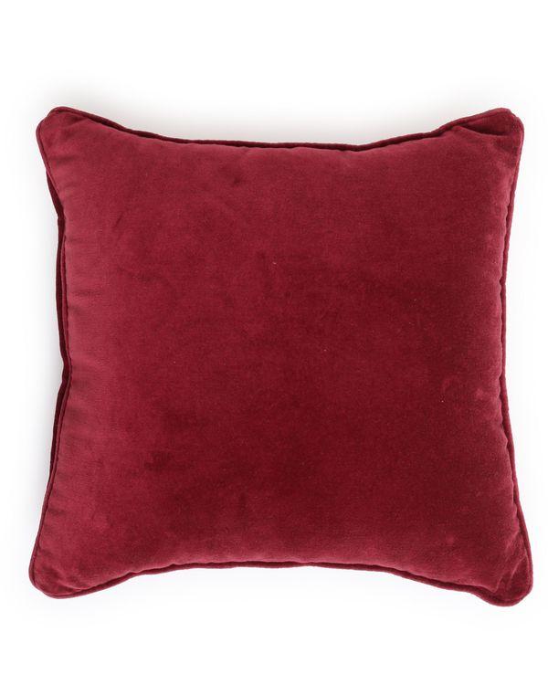 Burgundy cotton velvet cushion cover 1