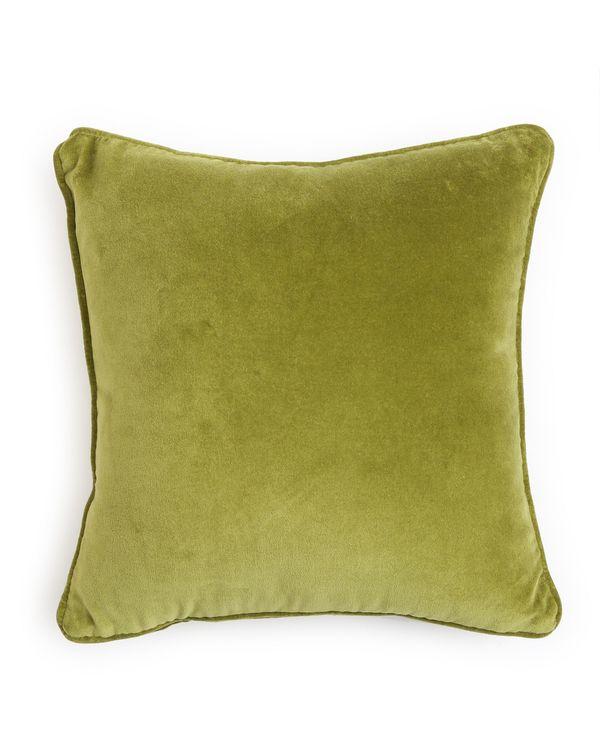 Green cotton velvet cushion cover 1