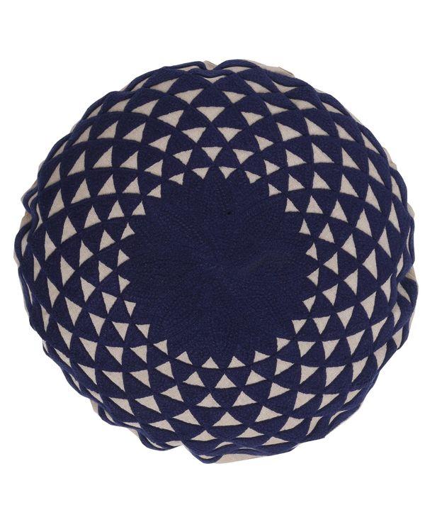 Deep blue mandala cushion cover 1
