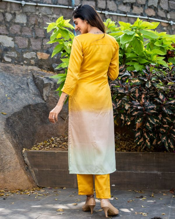 Ombre kurta set with pin tuck detailing - set of two 1
