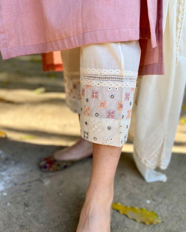 Pink cotton suit set - set of three 3