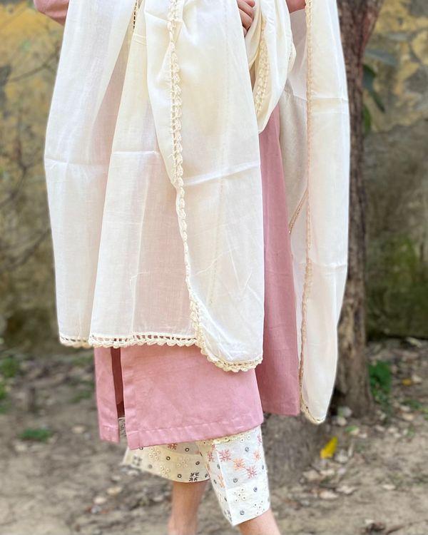 Pink cotton suit set - set of three 2