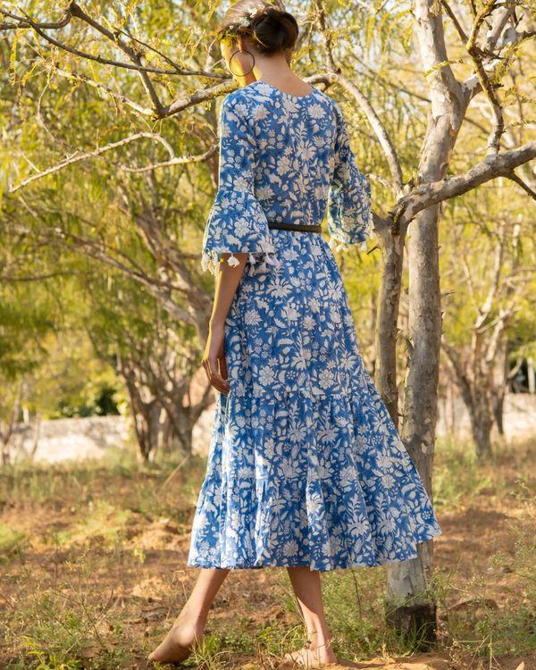 Cool blue tier dress 3