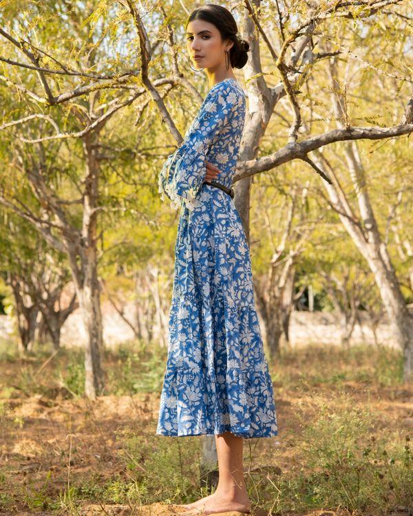 Cool blue tier dress 2