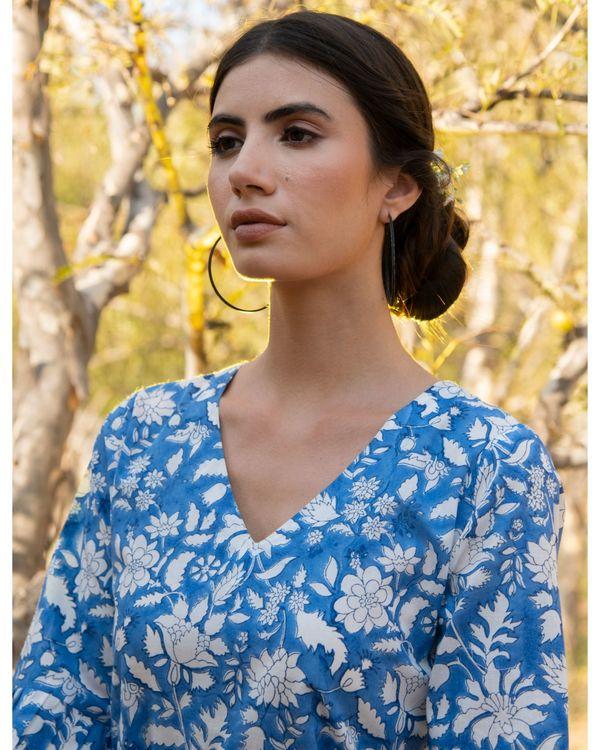 Cool blue tier dress 1