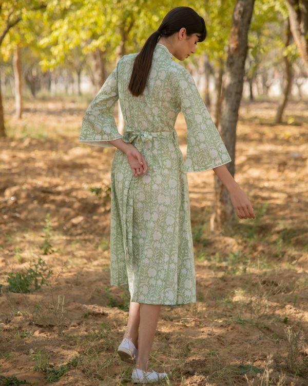 Pastel green wrap dress 2