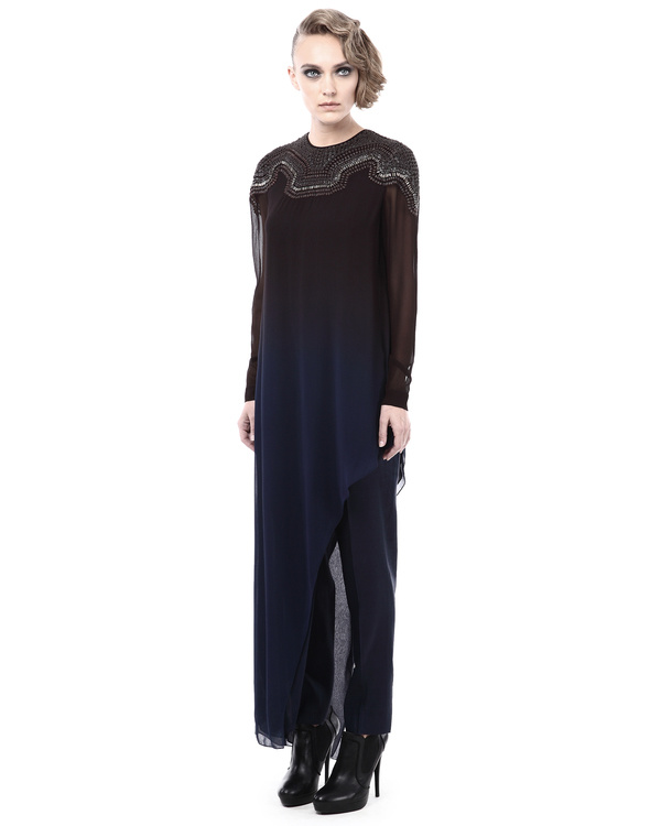 Ombre top with  embellished neckline 3