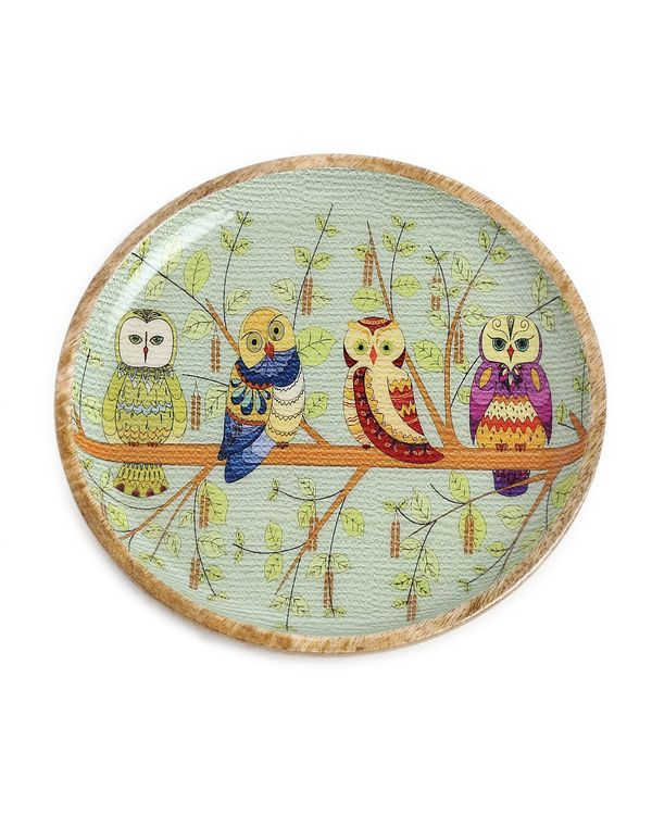 Quirky owl design platter (small) 1