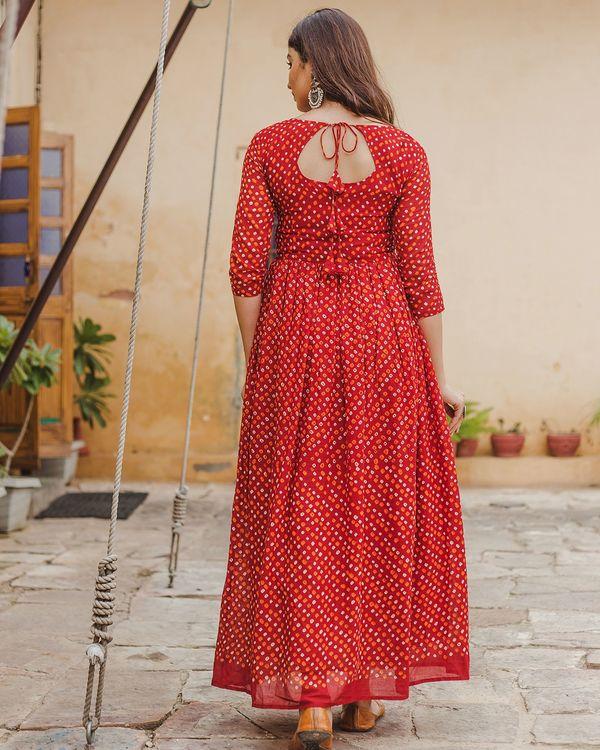 Red bandhani dress 3