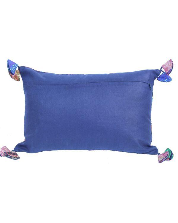 Vintage silk kantha pillow cover 2
