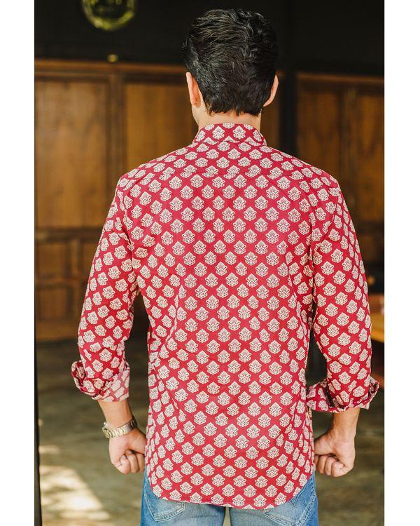 Red buti printed shirt 2