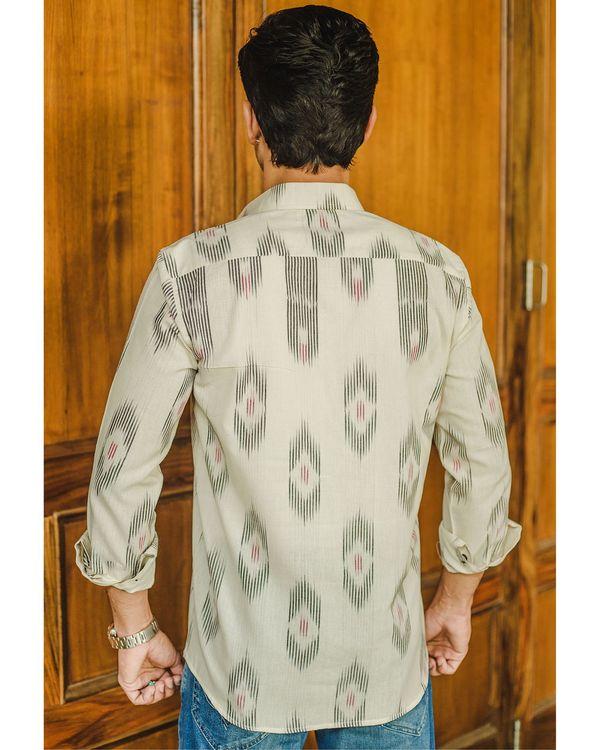 White handloom ikat shirt 1