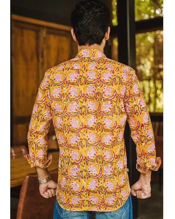 Yellow floral printed shirt 2