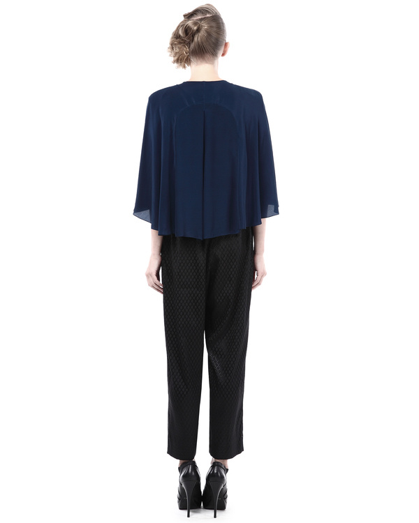 Embroidered shirt with cape sleeves 2