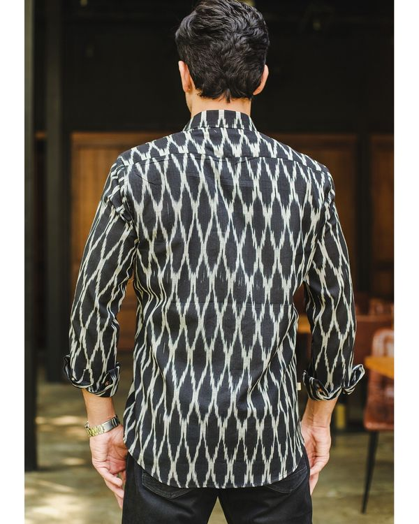 Black honeycomb ikat shirt 2