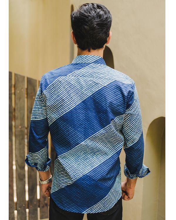 Indigo blue striped  shirt 2