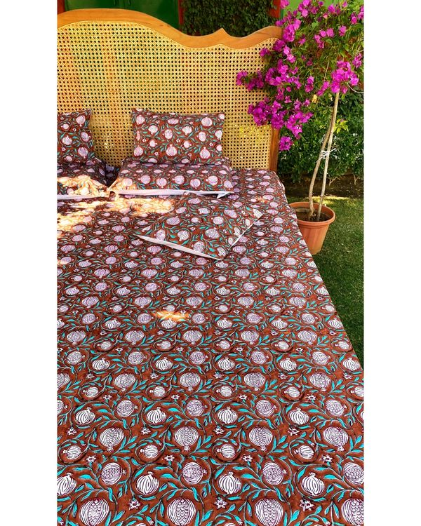 Anar jaal printed square and lumbar cushion covers - set of 4 2