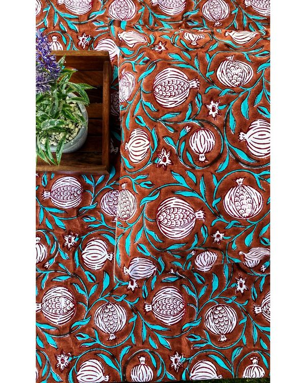 Anar jaal printed square and lumbar cushion covers - set of 4 1