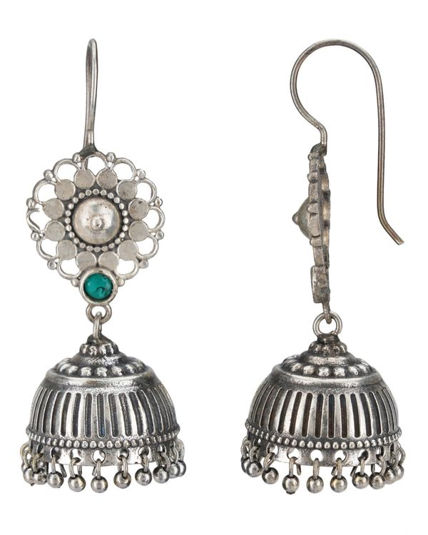 Floral and beaded jhumka 3