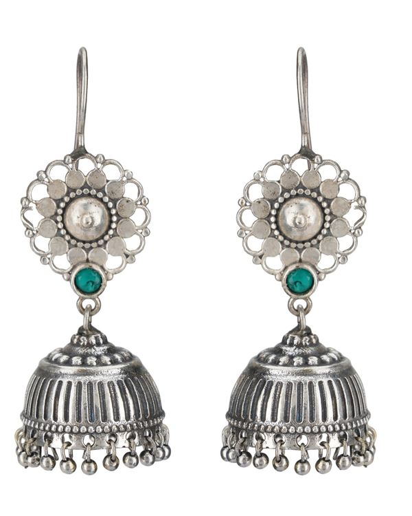 Floral and beaded jhumka 1