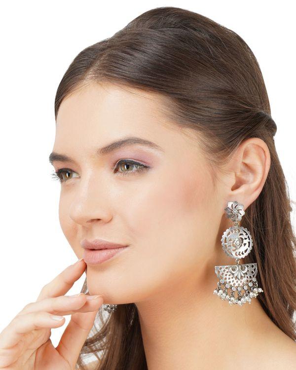 Moon shaped brass earrings 1