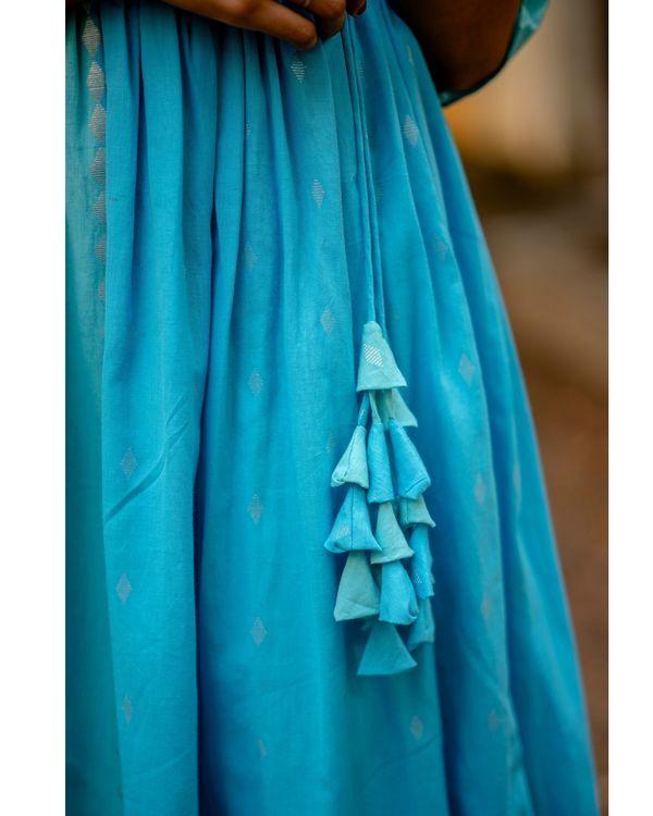 Sky blue angrakha dress 2