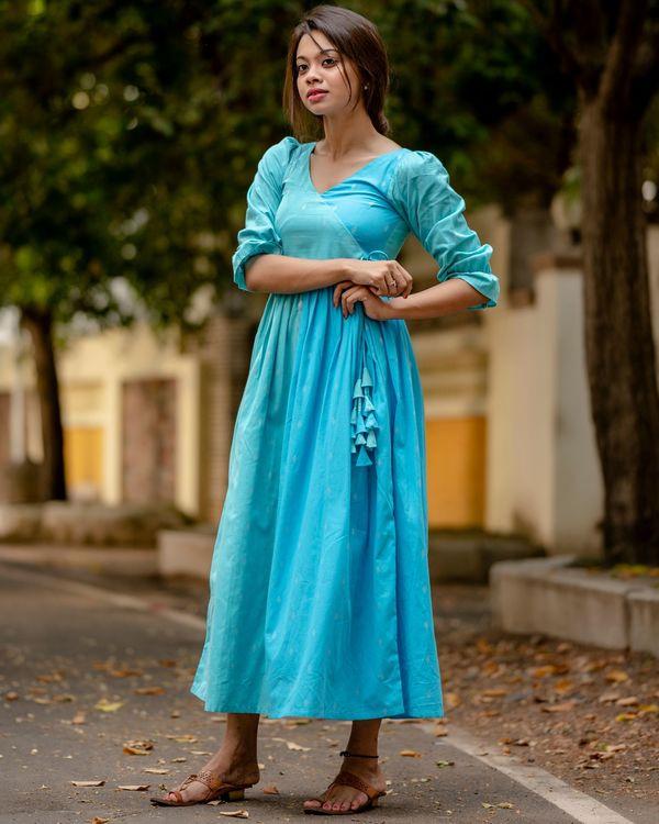 Sky blue angrakha dress 1